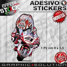 Adesivo Sticker HAGA NORYUKI NITRO NORI 41 DUCATI XEROX SBK MASCOTTE H.QUALITY
