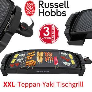 Russell Hobbs XXL Teppan-Yaki Elektro Tisch Grill Antihaft Balkon Innen & Außen