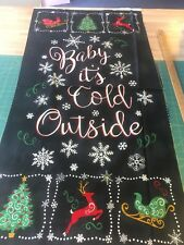 Timeless Treasures Cotton Fabric Quilting Panel Christmas Baby It's Cold Outside