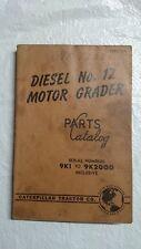 Genuine Caterpillar parts book maual Diesel No.12 Motor Grader