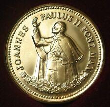 1984 PAPAL VISIT CANADA - GOLD PLATED - Pope John Paul II - w/Box, Case & COA