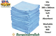More details for 50 x large microfibre cleaning auto, home, & work soft cloths wash towel duster