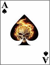 Flaming Skull Ace of Spades Card Vinyl Decal Sticker Car Truck Window
