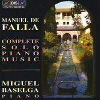 Manuel De Falla - Complete Solo Piano Music (Baselga) [CD]
