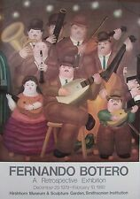"""Fernando Botero """"Los Músicos"""" Hirshorn Museum Poster 1980"""