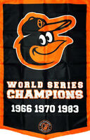 Baltimore Orioles World Series Championship Flag 3x5 ft Sports Banner Man-Cave