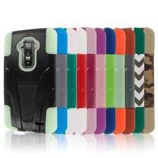 Tough Durable Shock Absorbing Hybrid Kickstand Case Cover For LG G Flex