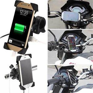 For Kawasaki BMW Motorcycle Bike ATV Cell Phone GPS Mount Holder USB Charger UK