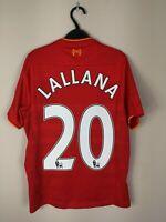 Liverpool 2016/2017 NB Vintage Football Shirt Home Red Lallana #20 Large Boys