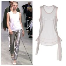 NWT Helmut Lang S/S 1999 Vintage Archival Removable Side Drape Silk Tank Pink 44