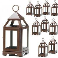 """Lot 10 Copper Bronze 8.75"""" Small Lantern Candle Holder Wedding Centerpieces"""