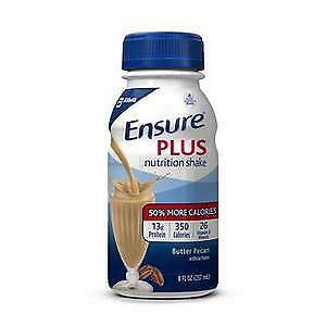 Ensure Plus Nutrition Shake, 8 fl oz, Butter Pecan 6 ea