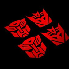 4x60mm Transformers Autobot Decepticon Car Sticker Decals, Window Bumper Phone