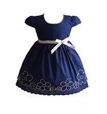 Bebé Niña Vestido Verano Algodón Rosa Blanco Amarillo Azul 6 9 12 18 24 meses