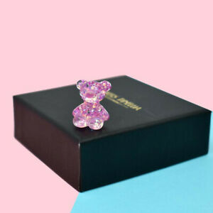 2/5PCS Sequin Crystal Little Bear Resin Charms Pendant DIY Jewelry Accessories
