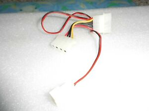 Unbranded 2 x 4 pin Molex to 2 pin Fan Connector - USED