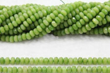 4x6mm Natural Faceted Green Peridot agate gemstone Abacus Loose beads strand15''