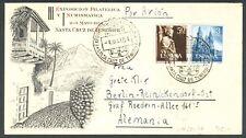 ESPAÑA - AÑO 1954 - EDIFIL 1130/31 - AÑO SANTO COMPOSTELANO - SOBRE A ALEMANIA