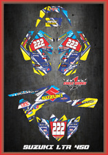 Suzuki LTR 450 450Rand newer ATV sticker kit Semi Custom Service DETOX