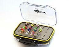 30 Piece Tungsten Ice Fishing Jig Kit - Waterproof Jig Box Crappie Walleye Perch