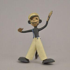 Jouet ancien en plastique figurine de singe 13 cm