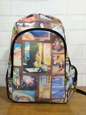 """Medium Art various artists collage prints BACKPACK 14"""" h x 10"""" w x 5"""" d. NEW"""