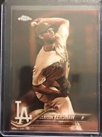 2018 Topps Chrome CLAYTON KERSHAW SEPIA REFRACTOR #121 LOS ANGELES DODGERS NICE!