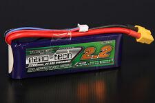 New Turnigy nano-tech 2200mAh 2S 25C 50C 7.4v Lipo Battery Pack XT60 XT-60 US