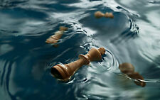 Framed Print - Chess Pieces Floating in Water(Picture Poster Art Pawn King Queen