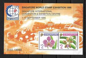 SMT, SINGAPORE SC #717c 1995 ORCHIDS SHEET 3598/9000, MNH, CV € 160+++