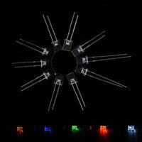 100pcs Rectangular Square LED Emitting Diodes Light LEDs Bulbs Water Clear3c