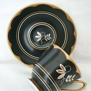 A VERY RARE EXQUISITE ROYAL ALBERT COFFEE CUP AND SAUCER.