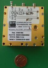 Herley CTI phase locked PDRO precision oscillator 12400 MHz, 12.4 GHz, tested