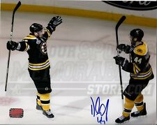 Dennis Seidenberg Boston Bruins Stanley Cup Signed 8x10 with Brad Marchand