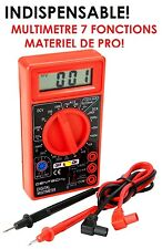 MULTIMETRE PROFESSIONNEL 7 FONCTIONS SPECIAL MECANIQUE AUTOMOBILE ET ELECTRICITE