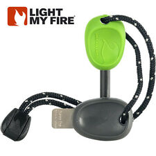 FireSteel Scout 2.0 Light My Fire Steel GREEN Starter 3k Strikes w/ Whistle