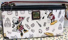 NWT*Dooney & Bourke*Disney Parks*Food & Wine* Lg Slim Wristlet 19055C S177