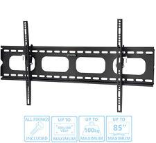 Slim Flat Tilting TV Wall Mount Bracket 42 50 60 70 80 85 LCD LED OLED CURVED UM