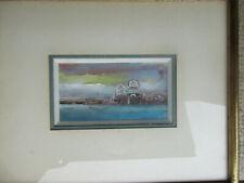 Venise tableau peinture à l'huile . bien encadré . 1982