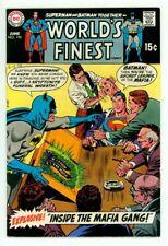 WORLD'S FINEST #194 VF/NM 9.0 SUPERMAN BATMAN BLACK COVER COMIC 1970