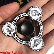 Game of Thrones Stark Logo Hand Spinner Finger Fidget Spinner Metal Gyro Toy