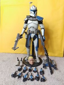 """Star Wars Clone Wars Sideshow Collectibles 12"""" 1/6 Scale Captain Rex Phase 1"""