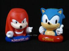 Sonic the Hedgehog & Knuckles Piggy Bank Figure Bust 1997 Japan Exclusive Sega