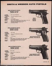 1983 SMITH & WESSON Model 59 9mm, 459/559 and 439/539 DA Pistol AD