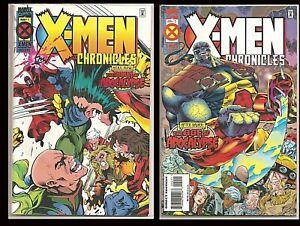 °X-MEN CHRONICLES: THE DAWN OF APOCALYPSE 1 & 2° US Marvel Wolverine vs X-Men!