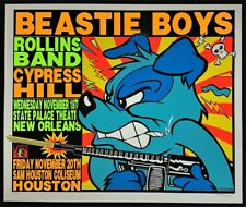 Beastie Boys POSTER Rollins Band Cypress Hill Silkscreen Signed Kozik 92-46 Mint