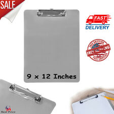 Heavy-Duty Aluminum Clipboard With Low Profile Clip For Everyone 9 x 12 Inches
