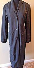 Banana Republic Black Raincoat Trenchcoat Light Long Jacket Women size S CJ13