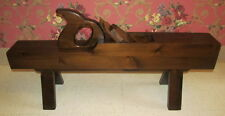 William Fetner Style  Antiqued Old Tavern Pine Tool Plane Accent Table