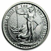 1oz 2015 Great Britain Britannia Silver Bullion Coin 99.99 Silver Investment